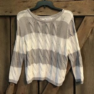 Design History NWOT Loose Knit Striped sweater!